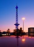 Radio tower in Western Berlin. Old radio tower or Berliner Funkturm in Western Berlin Royalty Free Stock Photo