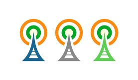 Radio Towers in Ireland Royalty Free Stock Photography