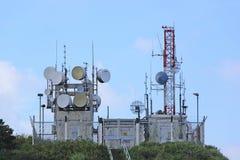 Radio transmitter antenna station Stock Images