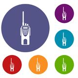 Radio transmitter icons set Royalty Free Stock Photography