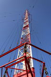 Radio transmitter tower Liblice, the highest construction in Czech republic Royalty Free Stock Images