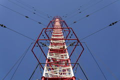 Radio transmitter tower Liblice, the highest construction in Czech republic Stock Photos