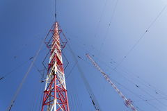 Radio transmitter tower Liblice, the highest construction in Czech republic Stock Images