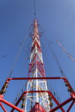 Radio transmitter tower Liblice, the highest construction in Czech republic Royalty Free Stock Photography