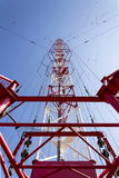 Radio transmitter tower Liblice, the highest construction in Czech republic Royalty Free Stock Image