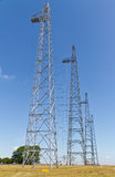 Radio transmitting masts Stock Photo