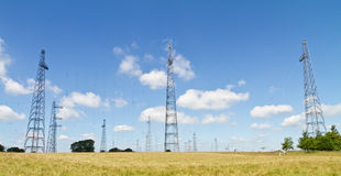 Radio transmitting masts Stock Photography