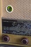 Radio TSF de cru en bois, détail en gros plan image libre de droits