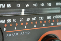 Radio tuner dial scale. Close up of radio tuner dial scale Stock Photography