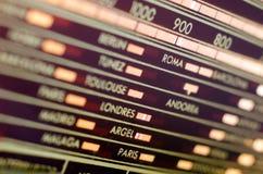 Radio Tuner Dial. Vintage analog radio tuner dial closeup Stock Photo