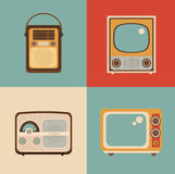 Radio TV picture Stock Images
