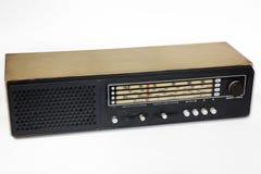 Radio vieja aislada Imagen de archivo libre de regalías