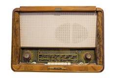 Radio vieja aislada en blanco Imagen de archivo