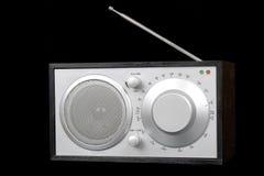 Radio vieja aislada en negro Imagen de archivo libre de regalías
