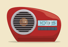 Radio vintage  design. Royalty Free Stock Photo