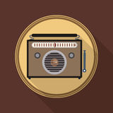 Radio vintage  design. Stock Photography