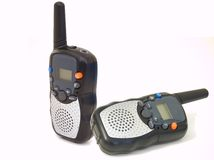 Radio walkie talkie pair Royalty Free Stock Photography