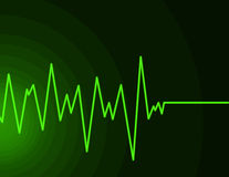 Radio Wave - neon green Royalty Free Stock Photo