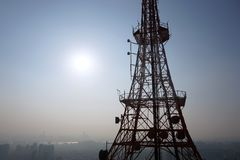 Radio wave tower Royalty Free Stock Photography