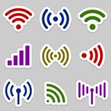 Radio waves icons Stock Image