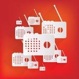 Radio web icon Royalty Free Stock Photos