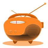 Radio for World Radio Day. Isolated radio. Vector illustration Royalty Free Stock Images