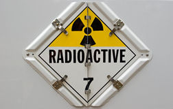 Radioactief Aanplakbiljet Stock Foto's