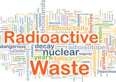 Radioactief afval achtergrondconcept Royalty-vrije Stock Afbeeldingen