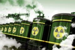 Radioactief Gevaarlijk Afval royalty-vrije illustratie