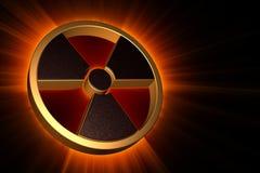 Radioactief gevaarssymbool Stock Foto's