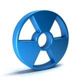 Radioactief symbool 3d teruggevende illustratie Stock Afbeeldingen