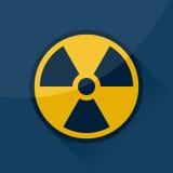 Radioactief teken en symbool Royalty-vrije Stock Afbeelding