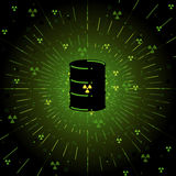 Radioactief vat Stock Foto