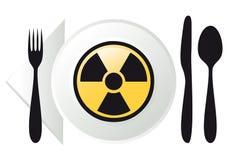 Radioactief voedsel,   vector illustratie