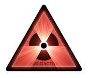 Radioactief waarschuwingssymbool Royalty-vrije Stock Foto's