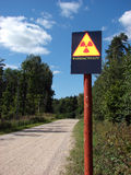 Radioactieve verontreiniging Stock Afbeeldingen