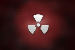 Radioactive. A futuristic warning sign radioactive Stock Photography