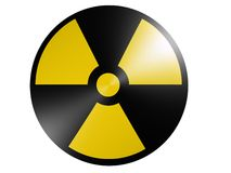Radioactive. 3d rendered radio active sign Royalty Free Stock Image