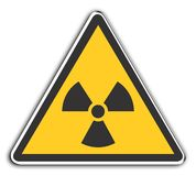 Radioactive. Warning sIgn Radioactive Stock Image