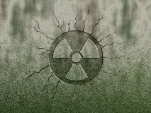 Radioactive. Symbol on stone background royalty free illustration