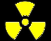 Radioactive. Symbol. Pillow Effect Royalty Free Illustration