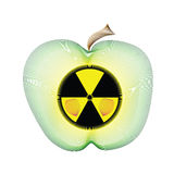 Radioactive apple sign Royalty Free Stock Images