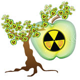 Radioactive apple tree Royalty Free Stock Photos