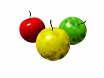Radioactive apples Stock Photo