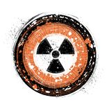 Radioactive background. Grunge style radioactive background vector Royalty Free Stock Photography
