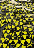 Radioactive badges Royalty Free Stock Photo