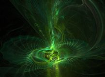 Radioactive Ball. A green fractal that looks like something radioactive royalty free illustration