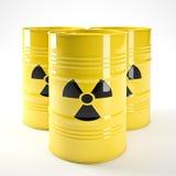 Radioactive barell. 3d image of yellow radioactive barell royalty free illustration