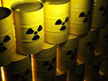 Radioactive barrel stock illustration