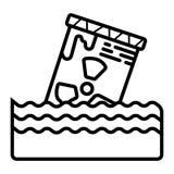 Radioactive barrel icon vector stock illustration